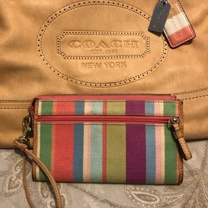 Coach Leather hand bag with matching wallet